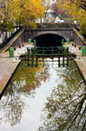 Canal St Martin - Ecluse et tunel - reflets